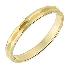 9ct Yellow Gold 3mm Double Row Faceted Wedding Ring - Product number 2635461