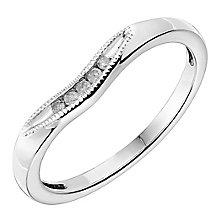 18ct White Gold Shaped Diamond Set Wedding Band - Product number 2639246
