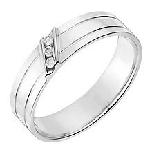 9ct White Gold 5mm Diamond Set Wedding Ring - Product number 2642840