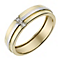 9ct Two Colour Gold Diamond Set 5mm Wedding Ring - Product number 2643170