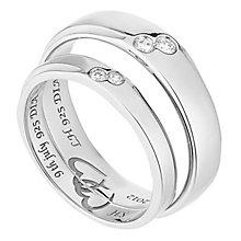 Commitment 18ct White Gold Diamond Set Wedding Ring Set - Product number 2643847