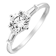 9ct White Gold Cubic Zirconia Solitaire Ring - Product number 2646250