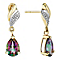 9ct Yellow Gold Mystic Topaz & Cubic Zirconia Drop Earrings - Product number 2646706