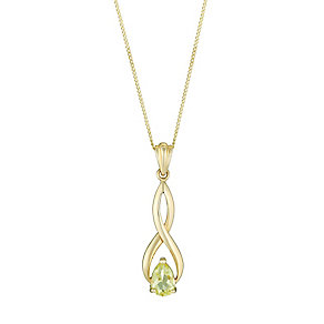 9ct Yellow Gold Lemon Quartz Twist Pendant - Product number 2646897