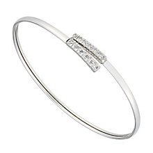 Rhodium Plated Silver & Cubic Zirconia Flexi Torque Bangle - Product number 2647168