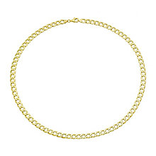 "9ct Yellow Gold 22"" Hollow Curb Chain - Product number 2647699"