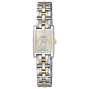 Citizen Eco-Drive ladies' two colour bracelet watch - Product number 2647915