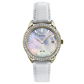 Citizen Eco-Drive ladies' white leather strap watch - Product number 2647923