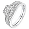 Perfect Fit 9ct White Gold 1/2 Carat Diamond Bridal Set - Product number 2772876