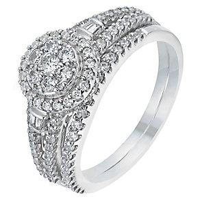 Perfect Fit 9ct White Gold 3/4 Carat Diamond Bridal Set - Product number 2773007