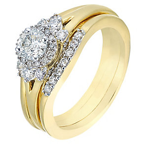 Perfect Fit 18ct Yellow Gold 3/4 Carat Diamond Bridal Set - Product number 2773139