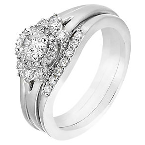 Perfect Fit 18ct White Gold 3/4 Carat Diamond Bridal Set - Product number 2773287