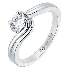 The Forever Diamond Palladium 1/4 Carat Twist Diamond Ring - Product number 2774690