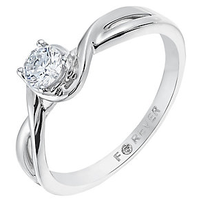 The Forever Diamond 18ct White Gold 1/4 Carat Diamond Ring - Product number 2774852