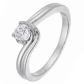 The Forever Diamond Palladium 1/3 Carat Twist Diamond Ring - Product number 2775018
