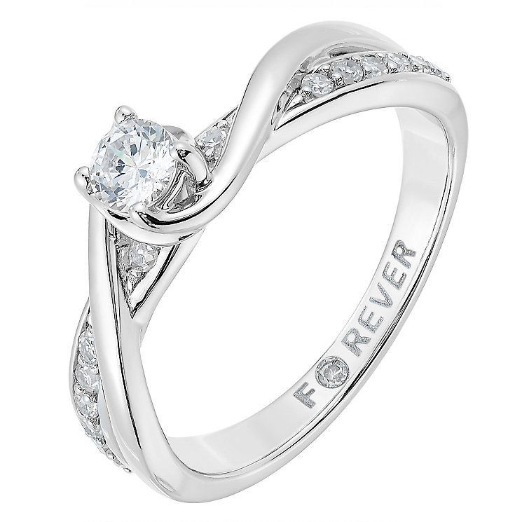 18ct White Gold 1/3 Carat Forever Diamond Ring - Product number 2775166