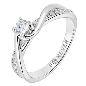 The Forever Diamond 18ct White Gold 1/3 Carat Diamond Ring - Product number 2775166