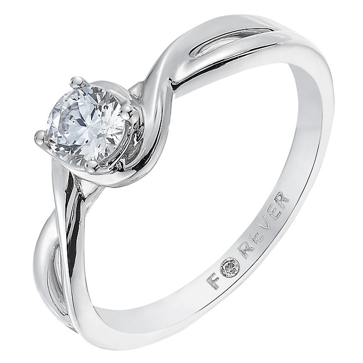 The Forever Diamond 18ct White Gold 1/3 Carat Diamond Ring - Product number 2775328