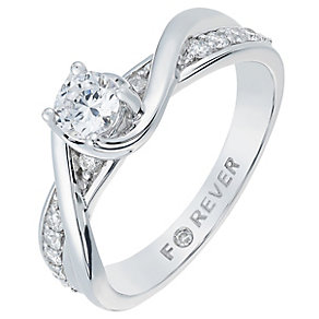 The Forever Diamond 18ct White Gold 1/2 Carat Diamond Ring - Product number 2775476