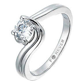 The Forever Diamond Palladium 1/2 Carat Twist Diamond Ring - Product number 2775638