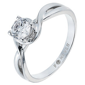 The Forever Diamond 18ct White Gold 1/2 Carat Diamond Ring - Product number 2775786