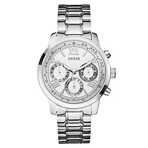 Guess Ladies' Silver Toned Multifunction Bracelet Watch - Product number 2776855