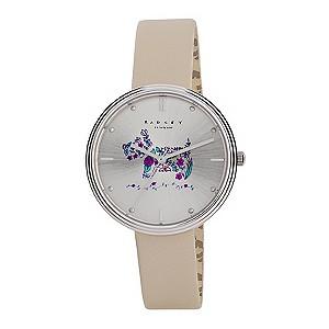 watches h samuel radley ladies flower scottie dog cream leather strap watch product number 2777436