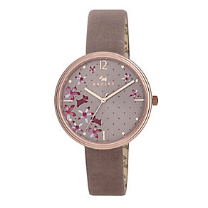 Radley Ladies' Flower Print Dial & Tan Leather Strap Watch - Product number 2777452