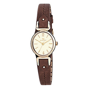 Radley Ladies' Yellow Gold Plated Leather Cuff Strap Watch - Product number 2777460