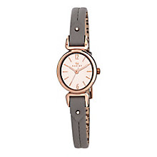 Radley Ladies' Yellow Gold Plated Grey Leather Strap Watch - Product number 2777479