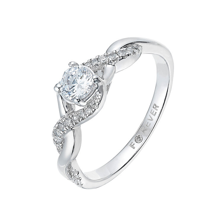 The Forever Diamonds 18ct White Gold 2/5 Carat Diamond Ring - Product number 2777495