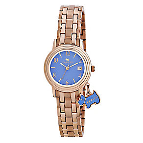 Radley Ladies' Blue Dial & Rose Gold Plated Bracelet Watch - Product number 2777657