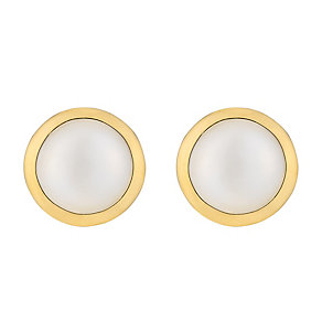 9ct yellow gold cultured freshwater pearl stud earrings - Product number 2777908