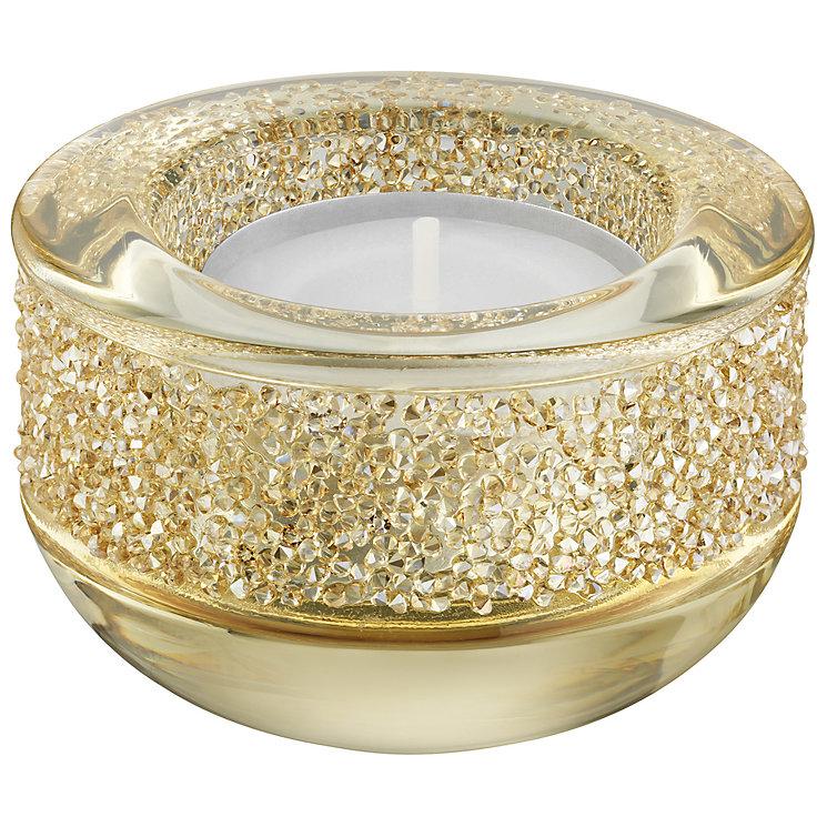Swarovski Gold Shimmering Crystal Candle Holder