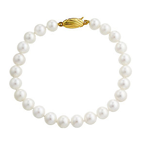 9ct yellow gold cultured pearl bracelet - Product number 2779803