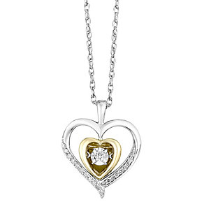 Diamonds in Rhythm Silver & 9ct Yellow Gold Diamond Pendant - Product number 2779927