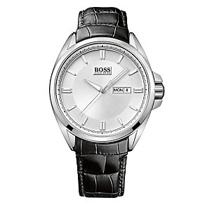 Hugo Boss men's stainless steel black strap watch - Product number 2781352