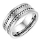 Titanium 9mm Double Plaited Design Ring - Product number 2781867