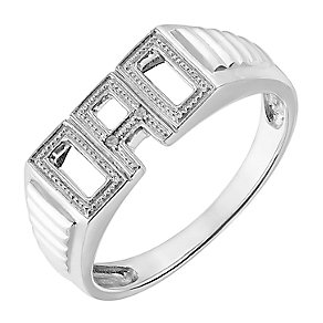 Sterling Silver and Diamond DAD Ring - Product number 2783339