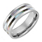 Titanium And Shell 8mm Ring - Product number 2785714