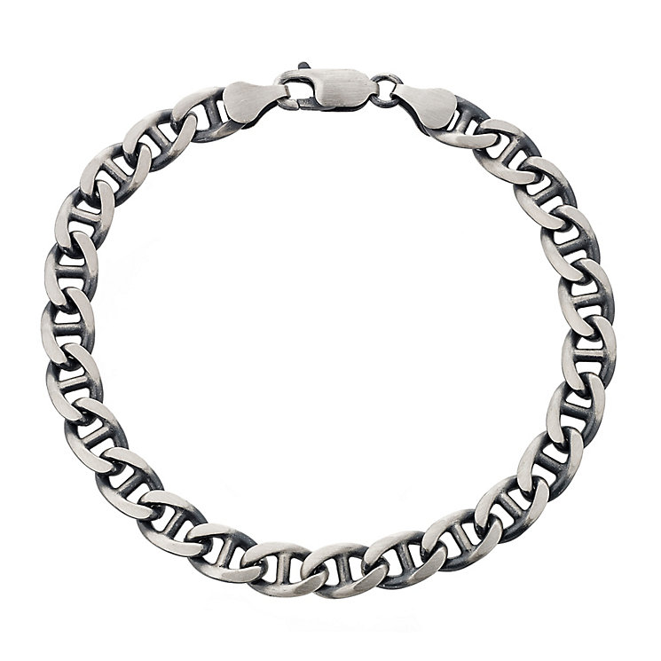 "Oxidised Silver 8.25"" Curb Chain Bracelet - Product number 2786494"