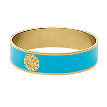 Dyrberg Kern Yellow Gold Plate Turquoise Enamel Wide Bangle - Product number 2787229