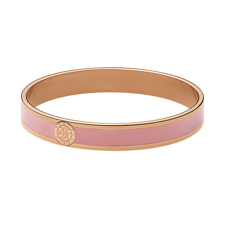 Dyrberg Kern Rose Gold Plate & Pink Enamel Slim Bangle - Product number 2787261