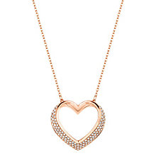 Swarovksi rose gold-plated heart shaped pendant - Product number 2788268