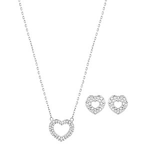 Swarovski heart earrings and pendant set. - Product number 2788322