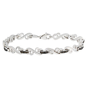 Open Hearts by Jane Seymour Treated Black Diamond Bracelet - Product number 2788713