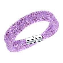 Swarovski Stardust mauve double wrap bracelet size M - Product number 2788780