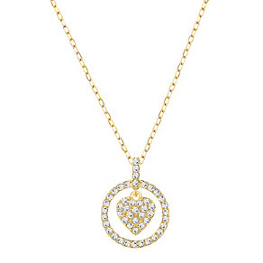Swarovski gold-plated heart pendant - Product number 2789361