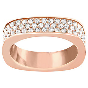 Swarovski rose gold-plated pave crystal ring size P - Product number 2789582