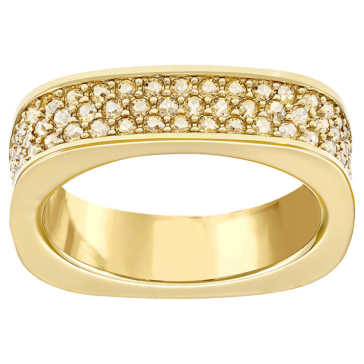 Swarovski gold-plated pave crystal ring size N - Product number 2789639